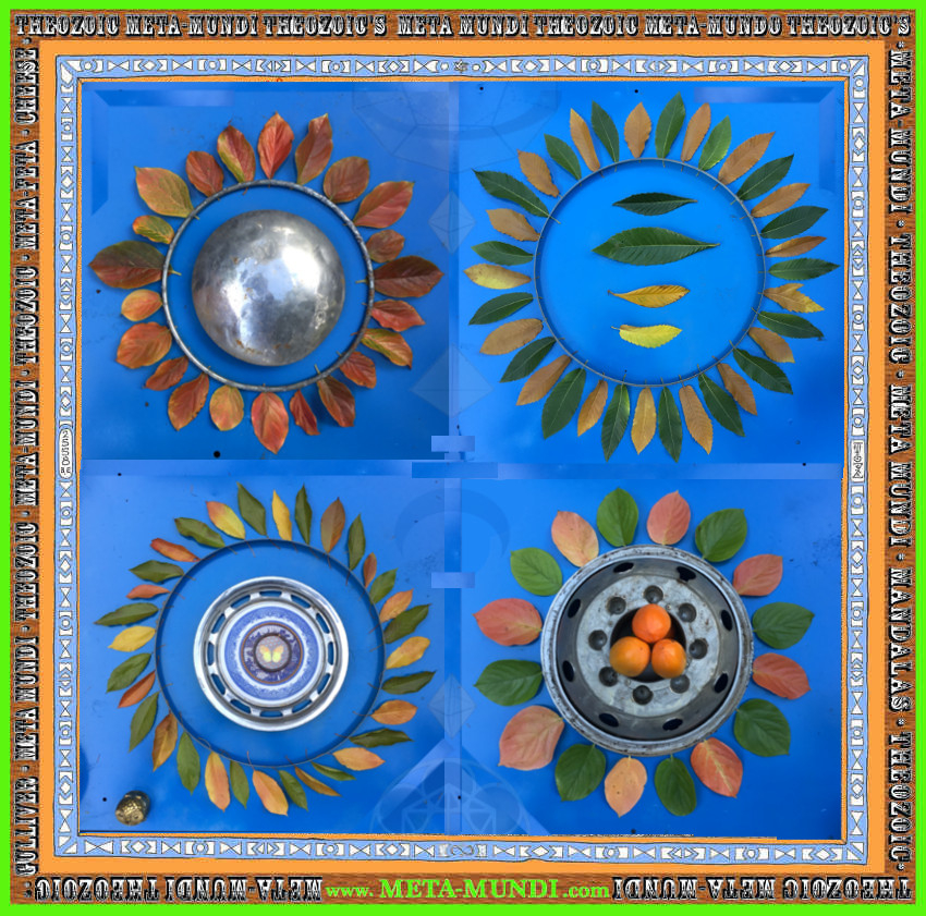 theozoic, autumn, goldsworthy, art, fall, fruit, trees, gulliver, mandala